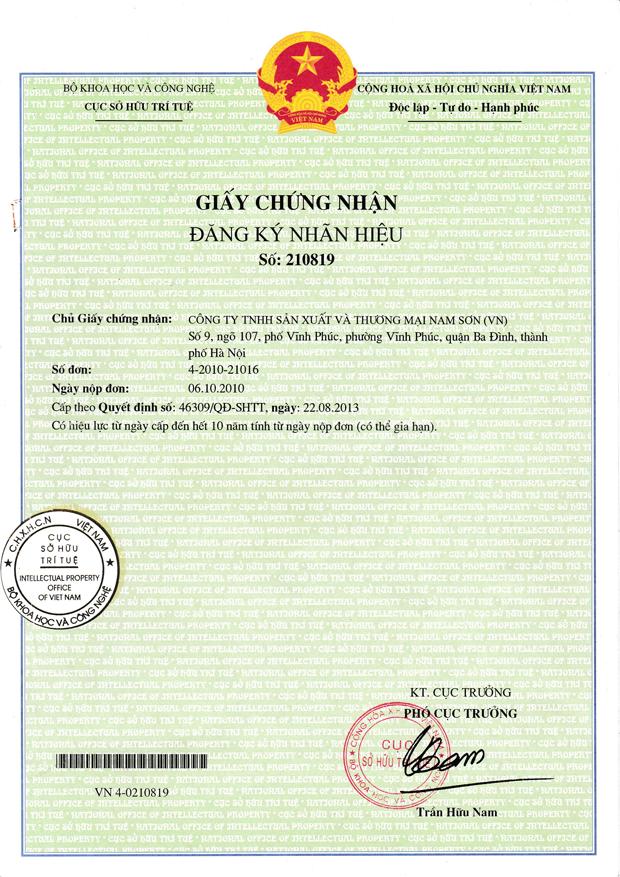 Giấy chứng nhận đăng ký nhãn hiệu tiếng Việt