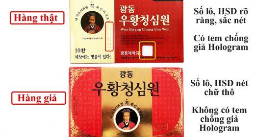 Phân biệt An cung ngưu Vũ Hoàng Thanh Tâm Kwangdong thật giả
