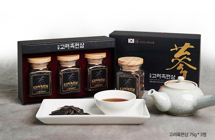Hắc Sâm Thái Lát Daedong Hàn Quốc 75g x 3 Lọ