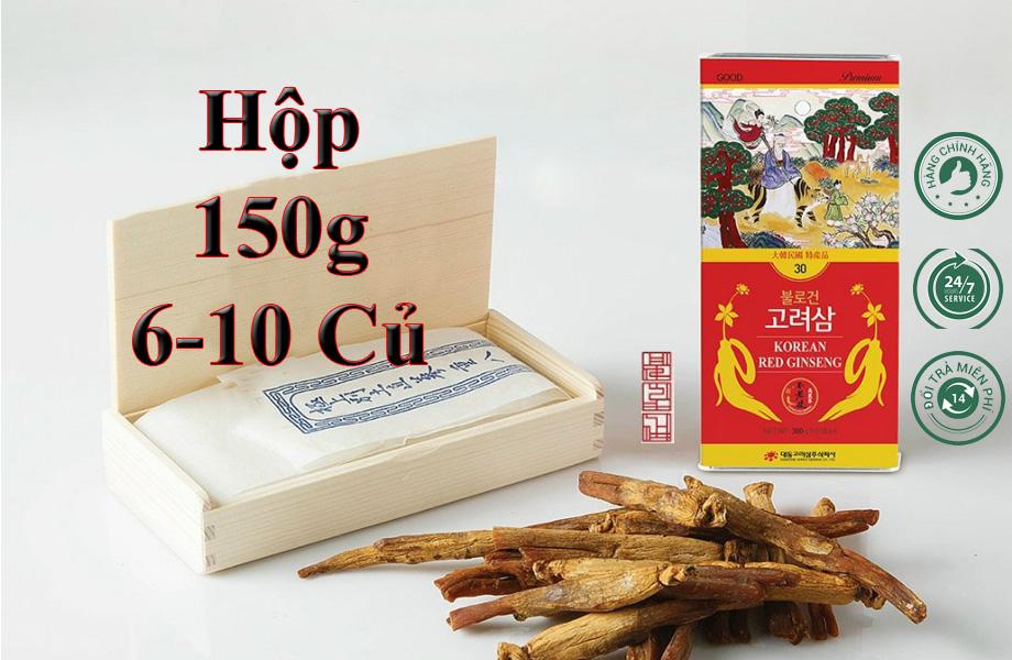 Hồng Sâm Sấy Khô Daedong 150g (6-10 Củ) Premium