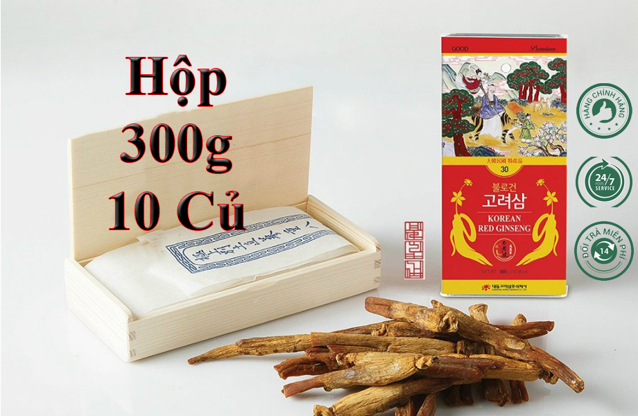 Hồng Sâm Sấy Khô Daedong 300g 10 Củ Premium