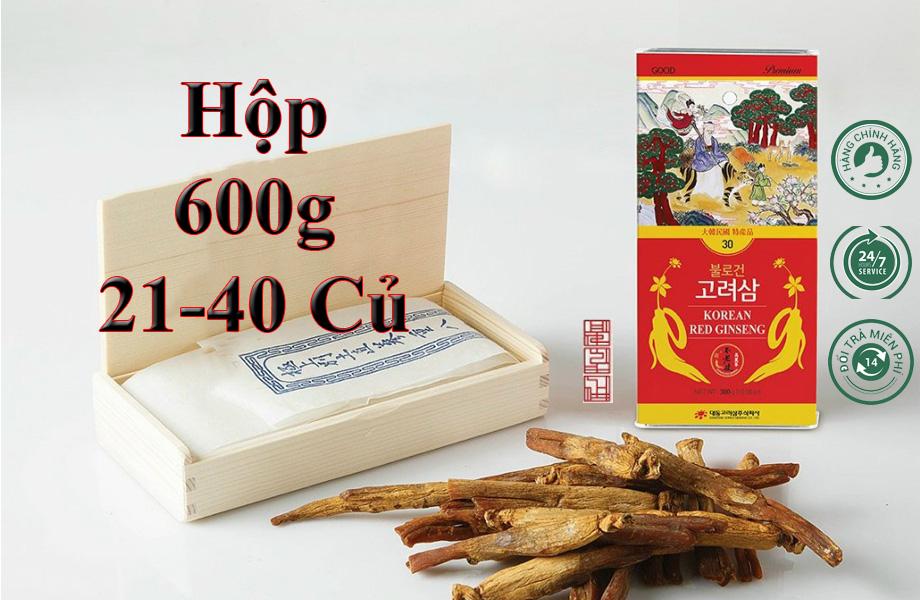 Hồng Sâm Sấy Khô Daedong 600g (21-40 Củ) Premium