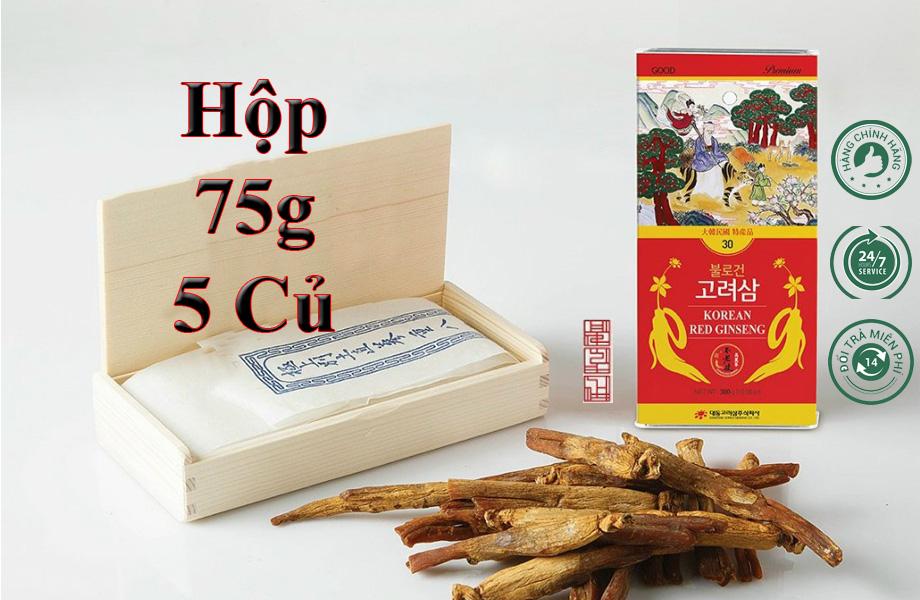 Hồng Sâm Sấy Khô Daedong 75g 5 Củ Premium